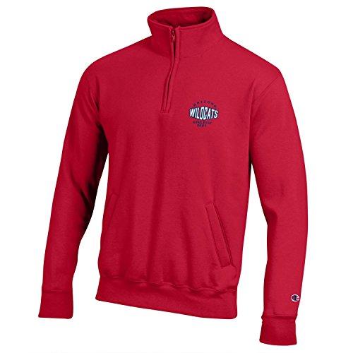 Champion NCAA Arizona Wildcats Men's All-around Fleece 1/4 Zip Jacket, Large, Scarlet -