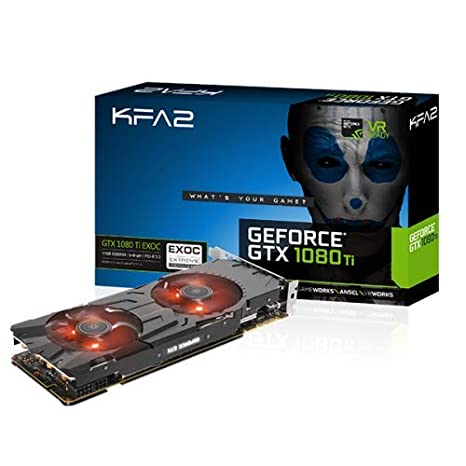 KFA2 GeForce GTX 1080 EXOC PCI-E - Tarjeta Gráfica para Videojuegos, 11 GB, 362 bit,Negro