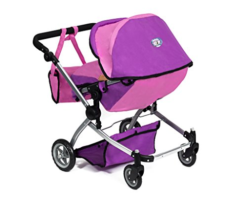 Cinderella USA Babyboo Deluxe Double Doll Stroller - Pink]()