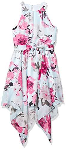 Speechless Girls' High Neck Hanky Hem Dress