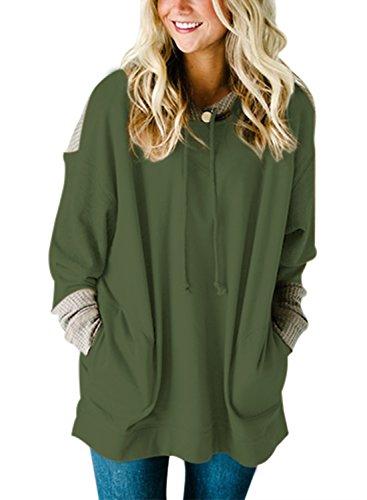 HOTAPEI Oversized Colorblock Pullover Sweatshirt