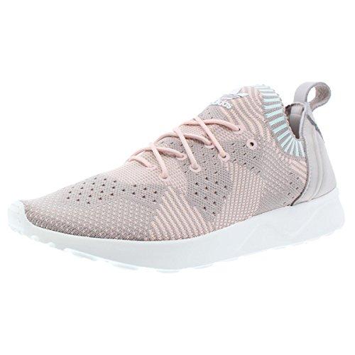 adidas Womens ZX Flux Virtue PK Knit Fashion Sneakers Pink 10.5 Medium ()