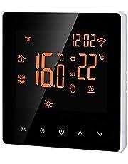 Walory Wi-Fi Smart Termostat Digital Temperaturregulator Tuya App-Kontroll Lcd-Displaytouch-Skärm Vecka Programmerbar Elektrisk Golvvärme-Termostat för Hemmaskolakontor Hotel 16A