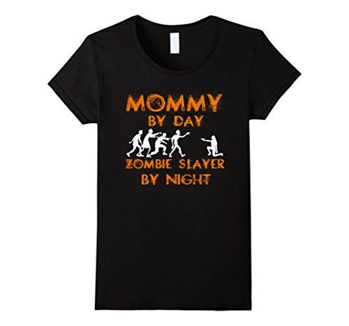 Womens Mommy By Day Zombie Slayer By Night - T-shirt Halloween Large Black