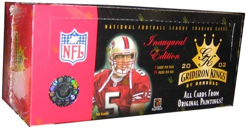 2002 Donruss Gridiron Kings Football HOBBY Box - 24P4C (2002 Gridiron Kings)
