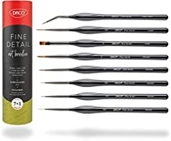 DACO Detail Paint Brush Set, 7pcs +1 Fin...