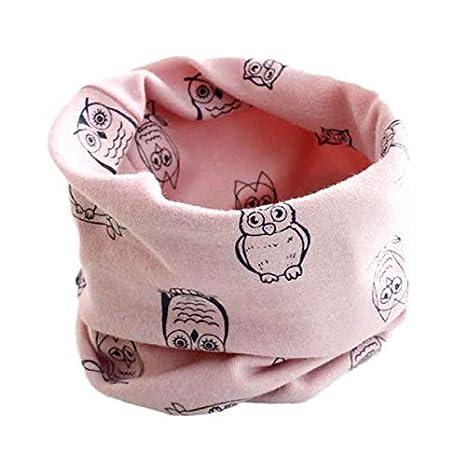 Garçons Filles Hibou Col d'impression, BZLine Baby Coton O Ring Neck Foulards Écharpe d'automne (Violet)
