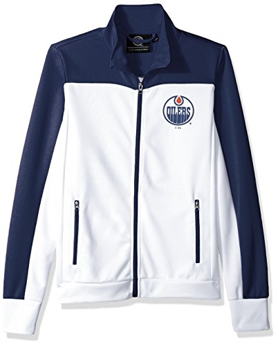 - GIII For Her NHL Edmonton Oilers Women's Play Maker Track Jacket, XX-Large, White