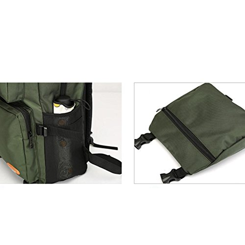 Large Leisure Bag Canvas Travel Backpack Black Men's capacity Outdoor Shoulder Dhfud 0BZ4n