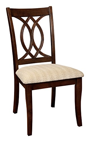 HOMES: Inside + Out ioHOMES Twirla Dining Chair (Set of 2), Brown Cherry - Brown Cherry Dining Chairs