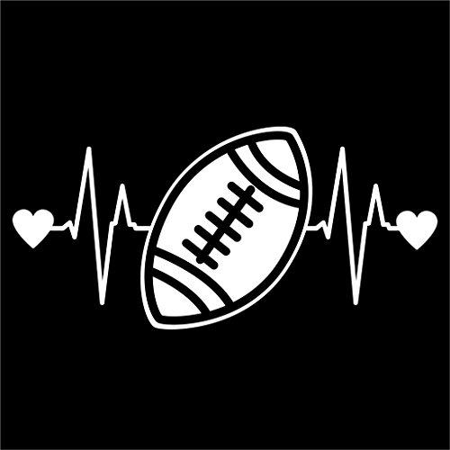 Football Heartbeat Sticker Laptops KCD1213 product image