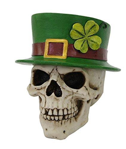 rechaun Skull Luck of the Irish Stash Box St. Patrick's Day Collectible Novelty Decor 5.75 Inches ()