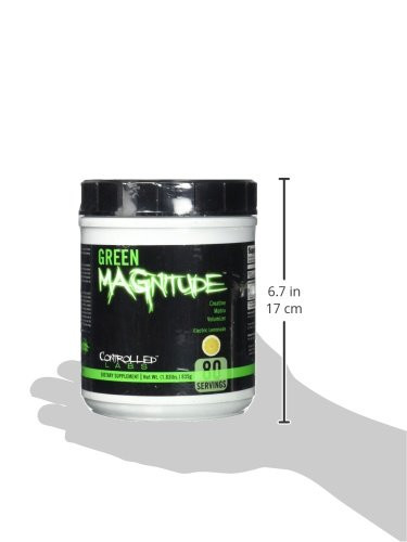 Controlled Labs Green Magnitude, Creatine Matrix Volumizer, 80 Serving, Green Lemonade, 1.83-Pound Plastic Jar