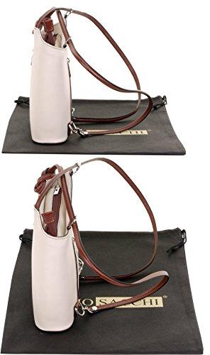 Sac marque grandes Cassé main à nbsp;Comprend fabriqué sac sac Moyen moyennes Blanc italien à dos et ou bandoulière nbsp;Versions à cuir de sac rangement protecteur à de la amp; Marron un main en RrqApwR