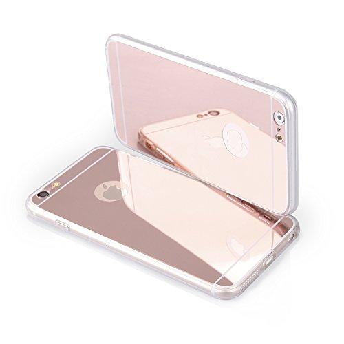 """Housse étui en silicone TPU Coque Étui transparent """"Mirror"""" pour """"Apple iPhone 6S Plus 5,5"""" Cover Rose Coque Housse Bumper"""