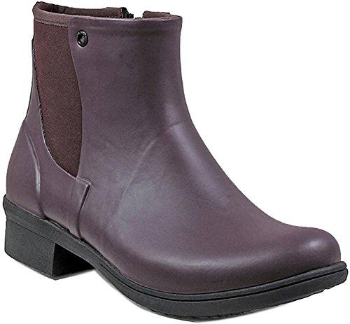 Bogs Womens Auburn Rubber Rain Boot Wine Size 7