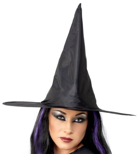 Witch Hat Costume Accessory (Wired Nylon Hat)