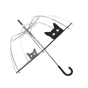 Paraguas para mujer, diseño de campana y dome Smati, transparente Chat