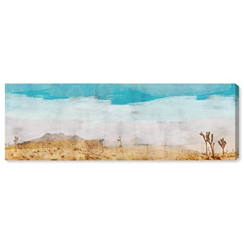 Contemporary Turquoise and Tan Desert Scene on Canvas Wall Art, 60