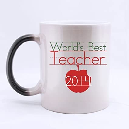ceramic morphing mug fashion design worlds best teacher 2014 heat color changing - Best Gifts For 2014 Christmas