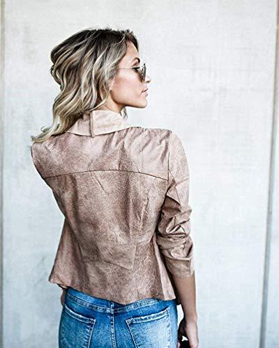Devant En Pour Grand Marine Ouvert Asymétrique Casual Femmes Taille Blazer Light Revers Veste Khaki Très couleur Col Avec Fuweiencore gPvn4q4