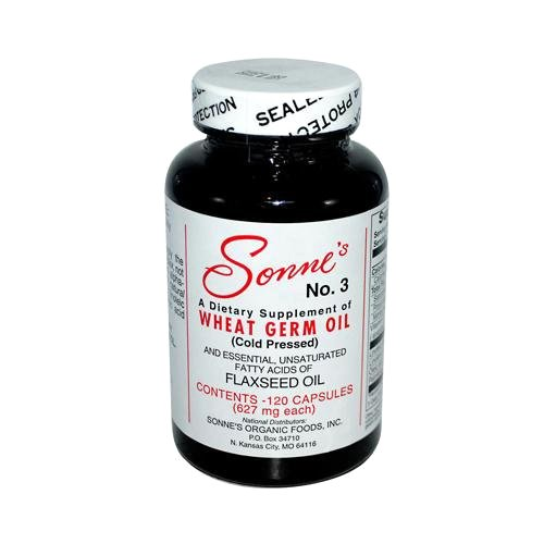 Sonne's No. 3 Wheat Germ Oil Capsules, 627 Mg, 120 Count ()