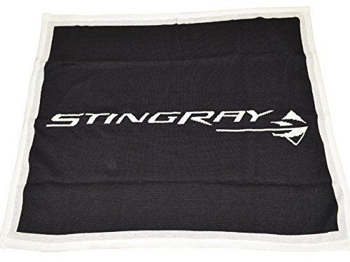 Corvette C7 Stingray Black Custom Knitted Throw Blanket Horizontal