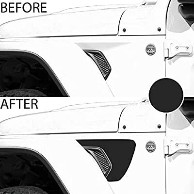Bogar Tech Designs - Precut Side Fender Vent Solid Vinyl Decal Compatible with Jeep Wrangler JL 2020, Matte Black: Automotive