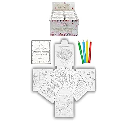 24 Wedding Favour Activity Pack.Childrens,Kids,party bag filler,box,puzzles,games by Henbrandt
