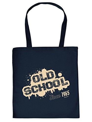 OLD SCHOOL Since 1965 :Tote Bag Henkeltasche. Beutel mit Aufdruck. Tragetasche, Must-have, Stofftasche, Geschenkidee
