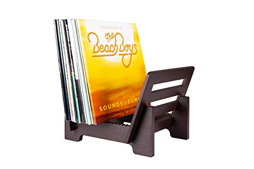 ZonsWorld Vinyl Record Storage Holder Bamboo Display Stand Environmentally Eco Friendly Modern Trendy & Stylish Record Holder Quality Design to Hold 50+ LP Music Storage Rack (Bamboo) (Brown)