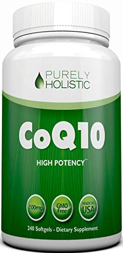 CoQ10 240 SoftGels - 100% MONEY BACK GUARANTEE - High Absorption Coenzyme Q10 -Made in the USA to GMP Standards