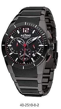 Herren Potens Uhr 40 – 2510 – 0-2 Stahl und Kautschuk Cronometro