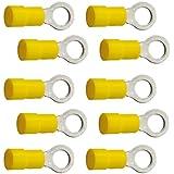 10 Ringkabelschuhe M8 8,4 mm gelb 4,0 bis 6,0 mm²