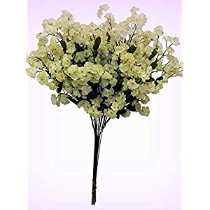 Inna-Wholesale Art Crafts New 12 Baby's Breath Light SAGE Green Gypsophila Silk Centerpieces Decorating Flowers - Perfect for Any Wedding, Special Occasion or Home Office D?cor 18