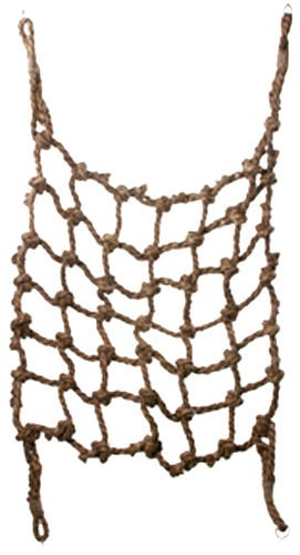 Bonka Bird Toys 51201 Large Short Parrot Climbing Net Bird Toy 48 by 48 Inches cage Swing Ladder Hammock Large African Grey Macaw Cockatoo Thick net Jungle Bungee Climber Hooks Heavy pet Accessories by Bonka Bird Toys
