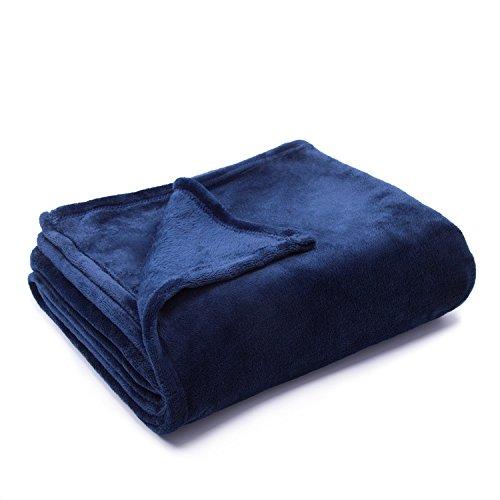 Flannel Fleece Luxury Blanket Blue Throws