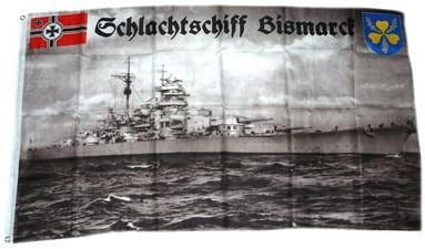 Fahne Schlachtschiff Bismarck Hissflagge 90 x 150 cm Flagge
