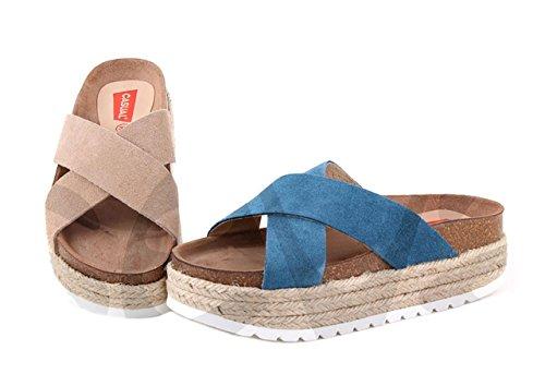 Casual 1020ca - Sandalia Señora Piel Jeans