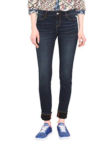 Blue denim Mujer 5008 Dark Para Desigual Azul Skin Denim Jeans second Ajustados WR7qU