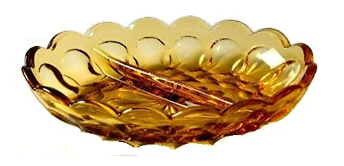 Anchor Hocking Fairfield Amber Glass ( 2-Part Relish Dish ) - Anchor Hocking Relish