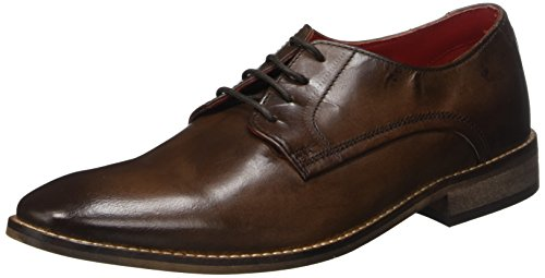 Uomo London Marron Stringate Marrone Base Brown Scarpe Sussex Washed wIqOndZ