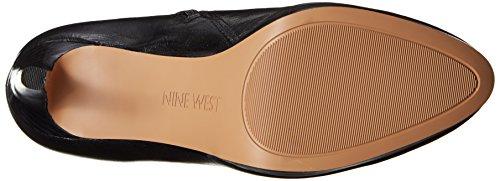 Nine Leather High Knee Boot Pearson Wide West Black Women's BBwga4
