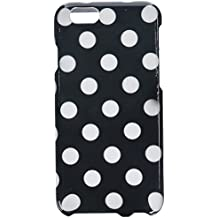 Eagle Cell Snap on Image Hard Case for Apple iPhone 6 - Retail Packaging - White/Black Polka Dot