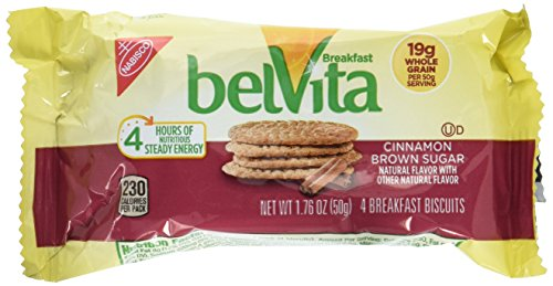 Nabisco Belvita Cinnamon Brown Sugar Breakfast Biscuits, 1.76 Ounce Each, 5 Pack