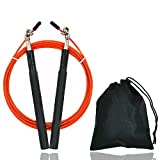 Cloudy Clouds Speed Jump Rope Skakanka Skipping Rope for Boxing Training Fitness Home Gym Workout with Carry Bag Spare Cable,2 in 1-Orange