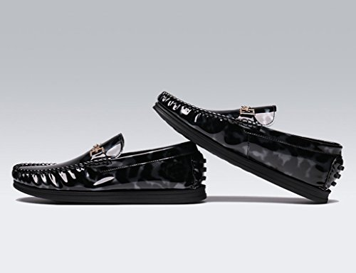 Zapatos Clásicos de Piel para Hombre Zapatos de cuero para hombres Spring Peas Shoes Lounger Casual Bright Driving Shoes ( Color : B , Tamaño : EU42/UK7.5 ) B