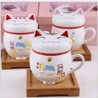 1 X Ceramic Fortune Cat Lucky Mug