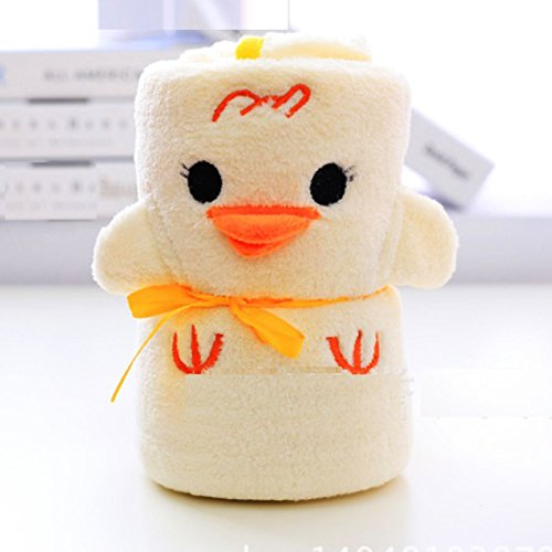 Plush Baby Blanket for Boy Girl Super-Soft Microfiber Fleece in Animal Designs for Nursing, Cuddle, Comforter, Play mat, Bath Towel Baby Shower Gift 40 inch x 31 inch US Seller (Yellow Chick)