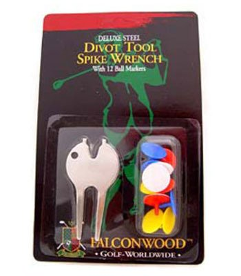 UPC 010027132370, Golf Divot Tool with 12 Golf Ball Markers